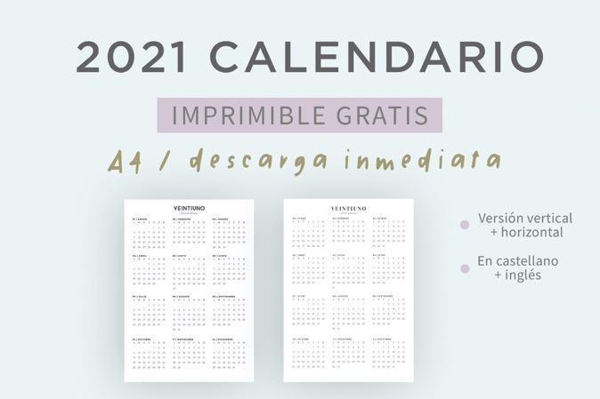 Calendario 2021 gratis